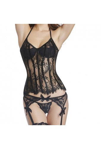 CORSET BLACK DRAGON NEGRO