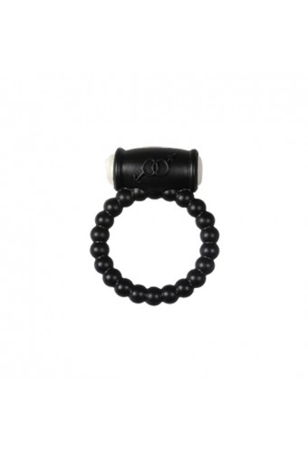 POWER RING BALLS ANILLO VIBRADOR SILICONA NEGRO