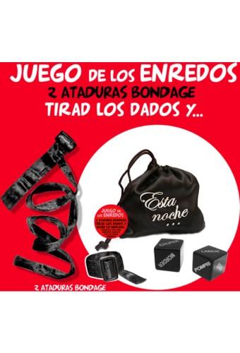 BOLSA JUEGO ENREDOS NEGRO ATADURAS2 DADOS