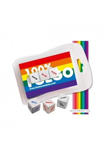 BLISTER 100 FUEGO 3 MINI DADOS LGTBI