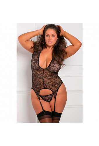 FINEST OF ALL GARTER CHEMISE BODY CON LIGUERO
