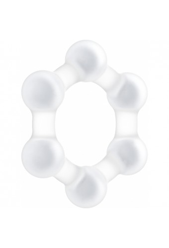 NO 83 WEIGHTED COCK RING TRANSPARENT